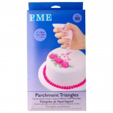 Parchment Triangles - 50 units - by PME Cake