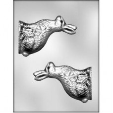 Chocolate Mold 3D Bunny Rabbit 6'' by Ck Products