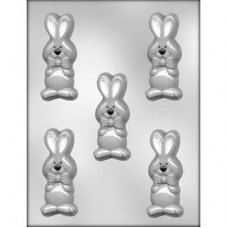 Chocolate Mold Bunny Rabbit with Bow 3½'' by Ck Products