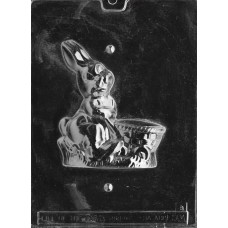 Chocolate Mold 3D Bunny Rabbit with Cart by Life of the Party