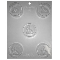Sandwich Cookie Chocolate Mold - Sitting Bunny by Ck Products