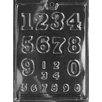 Chocolate Mold Numbers 2 Sizes by Life of the Party