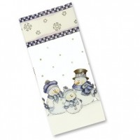 Treat Poly Bag 4'' X 2.5'' X 9.5'' - Snowman