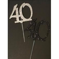40 Cake Topper by Maman Gato & Cie