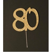 80 Cake Topper by Maman Gato & Cie