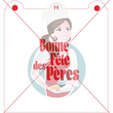 Stencil ''Bonne Fête des Pères'' by Maman Gato & Cie