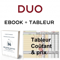 DUO - *FRENCH Ebook - ''La Recette Gagnante'' AND Excel Spreadsheet Cost & Pricing (in french) by Maman Gato & Cie