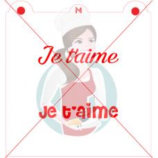 Stencil ''Je T'Aime'' by Maman Gato & Cie