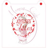 Stencil ''Joyeuses Fêtes'' by Maman Gato & Cie