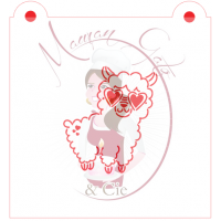 Stencil Lama With Heart Glasses Paint Your Own by Maman Gato & Cie