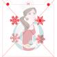 Stencil Snow Flake Medley by Maman Gato & Cie