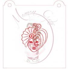 Stencil Masked Woman by Maman Gato & Cie