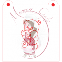 Stencil Bear With Broken Heart Paint Your Own by Maman Gato & Cie