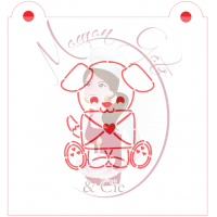 Stencil Puppy With Love Letter Paint Your Own by Maman Gato & Cie