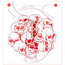 Stencil Skull Cluster by Maman Gato & Cie