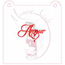 Stencil ''Amour'' by Maman Gato & Cie