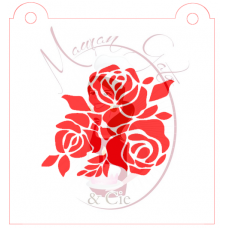 Stencil Bouquet of Roses by Maman Gato & Cie