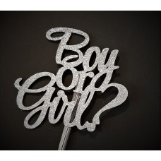 Boy or Girl? Cake Topper by Maman Gato & Cie