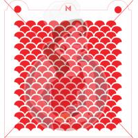 Stencil Pattern Fish Scale by Maman Gato & Cie