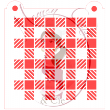 Stencil Buffalo Plaid - Inverted -  by Maman Gato & Cie