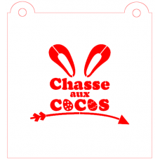 Stencil ''Chasse aux Cocos'' by Maman Gato & Cie