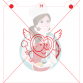 Stencil Cupid Heart Paint Your Own by Maman Gato & Cie