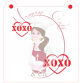Stencil XOXO Heart - 2 Sizes - by Maman Gato & Cie