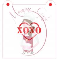 Stencil XOXO Heart by Maman Gato & Cie