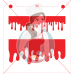 Stencil Blood Flow by Maman Gato & Cie