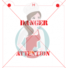 Stencil Danger Attention by Maman Gato & Cie