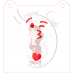 Stencil Emoji Winking and Blowing a Kiss by Maman Gato & Cie