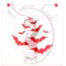 Stencil Flight of Bats by Maman Gato & Cie