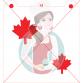 Stencil Maple Leaf - 2 sizes by Maman Gato & Cie