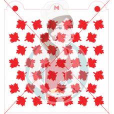 Stencil Maple Leaf Pattern by Maman Gato & Cie