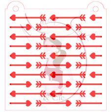 Stencil Pattern Deflected Arrows by Maman Gato & Cie
