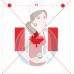 Stencil Maple Leaf - Canadian Flag - by Maman Gato & Cie