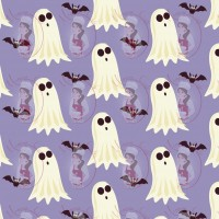 Transfer - Halloween Ghosts Pattern by Maman Gato & Cie