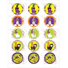 Cupcake Toppers - Halloween Lama by Maman Gato & Cie