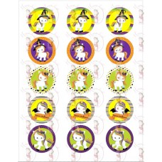Cupcake Toppers - Halloween Unicorn by Maman Gato & Cie