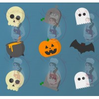 Transfer - Halloween Medley Pattern by Maman Gato & Cie