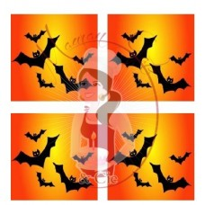 Transfer - Halloween Sunset Bats Pattern by Maman Gato & Cie