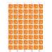 Transfer - Halloween Orange Ghosts Pattern by Maman Gato & Cie