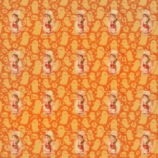 Transfer - Halloween Orange Ghosts Pattern by Maman Gato & Cie