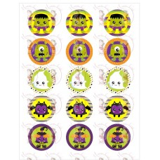 Cupcake Toppers - Halloween Monsters by Maman Gato & Cie