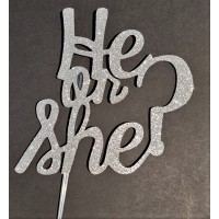 He or She? Cake Topper by Maman Gato & Cie