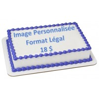 Custom Edible Print (Sugar Sheet) - Legal Size