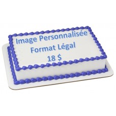 Custom Edible Print (Sugar Sheet) - Legal Size
