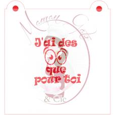 Stencil ''J'ai des yeux que pour toi'' by Maman Gato & Cie
