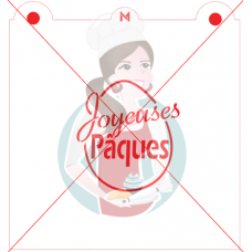 Stencil ''Joyeuses Pâques'' in Egg by Maman Gato & Cie