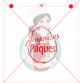 Stencil ''Joyeuses Pâques'' in Egg by Maman Gato & Cie